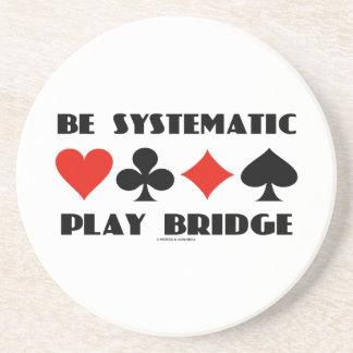 Sea puente sistemático del juego (cuatro juegos de posavasos cerveza