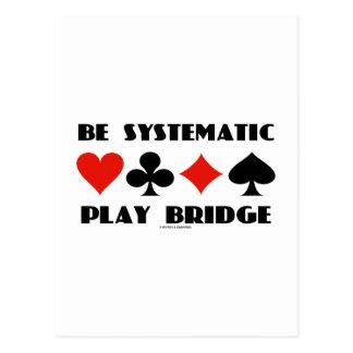 Sea puente sistemático del juego (cuatro juegos de postal
