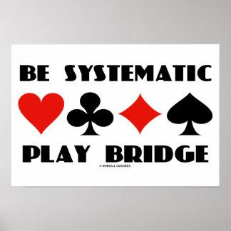 Sea puente sistemático del juego (cuatro juegos de póster