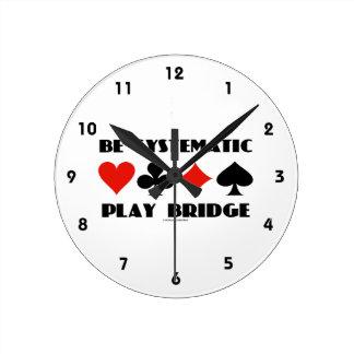 Sea puente sistemático del juego (cuatro juegos de reloj redondo mediano