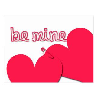 Sea saludo moderno del el día de San Valentín de Postal