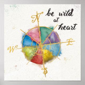 Sea salvaje en la cita del corazón con Compas Póster