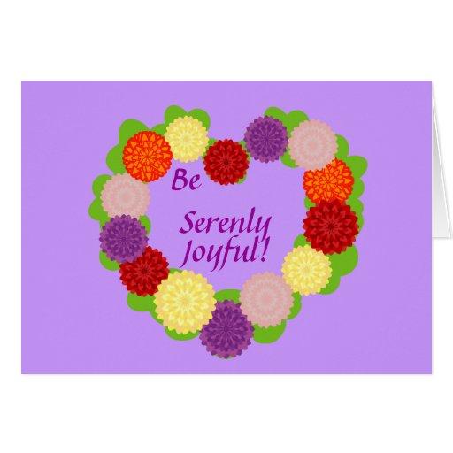 ¡Sea Serenly alegre! - Personalizar Tarjeta