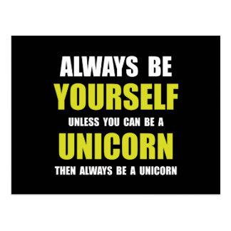 Sea siempre unicornio postal
