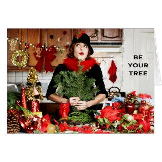 """Sea su árbol "" Tarjeta"
