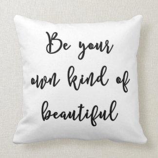 Sea su propia clase de almohada hermosa