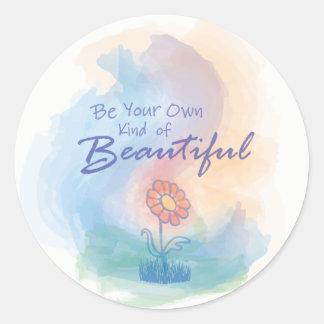 Sea su propia clase de hermoso - pegatina