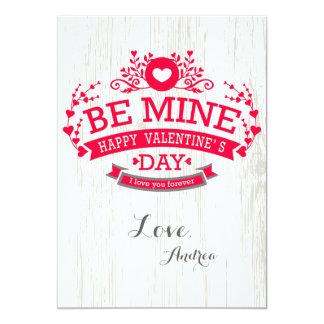 Sea tarjeta del el día de San Valentín de la mina Invitación 12,7 X 17,8 Cm