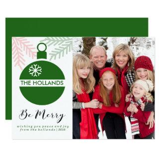 Sea tarjetas de las Felices Navidad el   CHSRITMAS Invitación 12,7 X 17,8 Cm