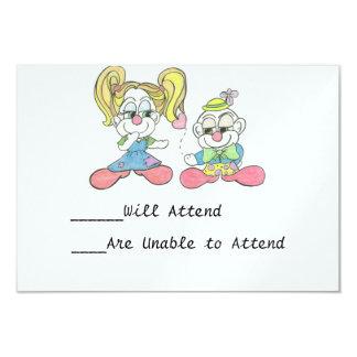 Sea tarjetas de RSVP del arte del dibujo animado Invitación 8,9 X 12,7 Cm