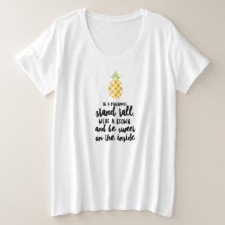 Sea una camiseta básica del tamaño extra grande de