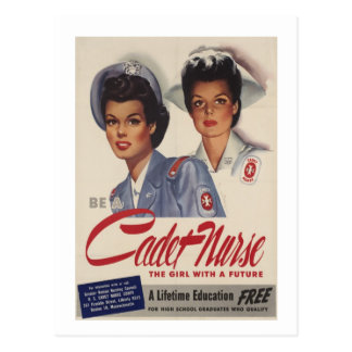 Sea una enfermera del cadete tarjeta postal