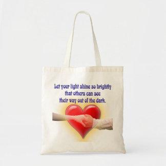 Sea una luz brillante bolso de tela