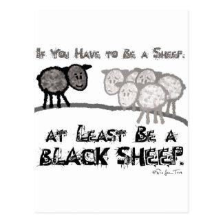 Sea una oveja negra 2 postal