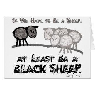 Sea una oveja negra 2 tarjeta de felicitación