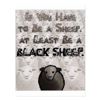 Sea una oveja negra postal