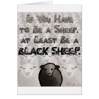 Sea una oveja negra tarjeta de felicitación