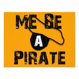 Sea una ropa y regalos del pirata invitación 10,8 x 13,9 cm