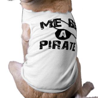 Sea una ropa y regalos del pirata camisetas de perrito