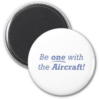 ¡Sea uno con los aviones Iman De Frigorífico