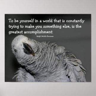 Sea usted mismo loro lindo de la cita inspirado impresiones