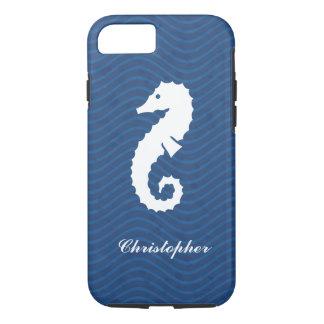 Seahorse azul de las olas oceánicas funda iPhone 7