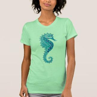 Seahorse de la aguamarina camisetas