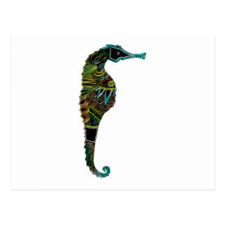 Seahorse de neón postal