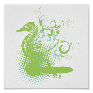 seahorse elegante posters