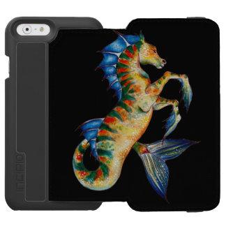 seahorse en negro funda cartera para iPhone 6 watson