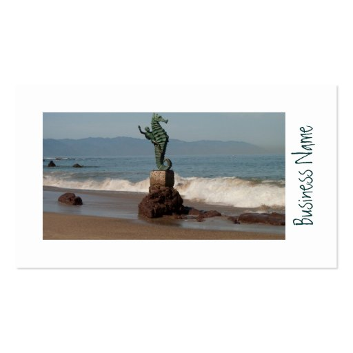 Seahorse fuera del agua plantilla de tarjeta personal