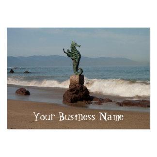 Seahorse fuera del agua tarjetas de negocios