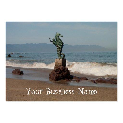 Seahorse fuera del agua plantilla de tarjeta de visita