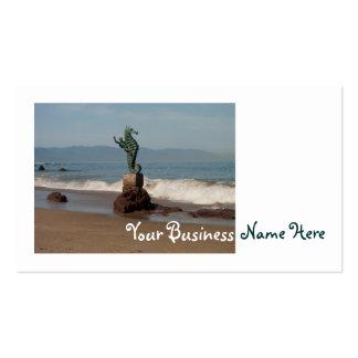 Seahorse fuera del agua tarjeta de negocio