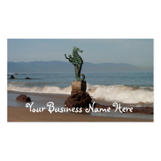 Seahorse fuera del agua plantilla de tarjeta de negocio
