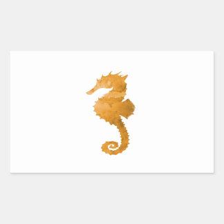 Seahorse Pegatina Rectangular