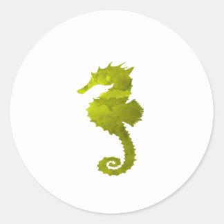 Seahorse Pegatina Redonda