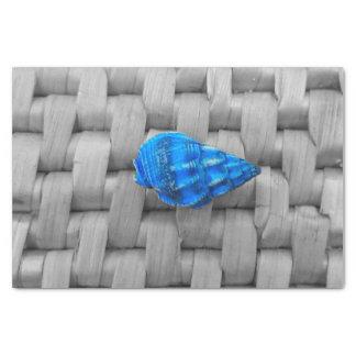 Seashell azul papel de seda