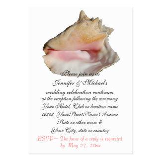 Seashell del recinto de la recepción nupcial tarjetas de visita