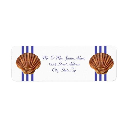 Seashell náutico - etiquetas de dirección