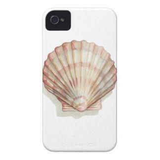 Seashell rosado y poner crema iPhone 4 Case-Mate cobertura
