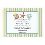 Seashells e invitación del fiesta de la playa de