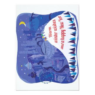 Seattle, tarjeta del día de fiesta del Monte Invitación 13,9 X 19,0 Cm