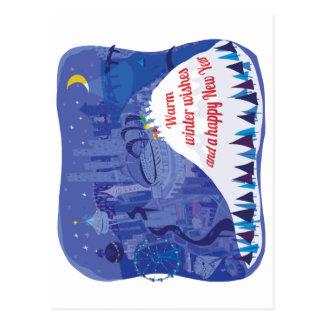 Seattle, tarjeta del día de fiesta del Monte Postal