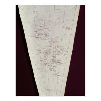 Sección del mapa de la isla de Ross a South Pole Postal