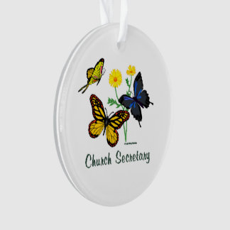 Secretaria Butterflies de la iglesia Adorno
