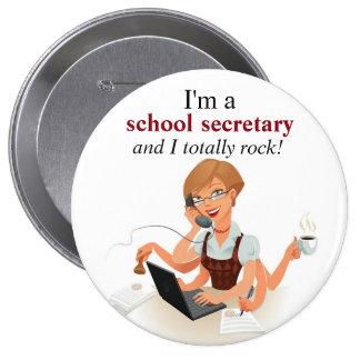 Secretaria Button de la escuela de Rockin Chapa Redonda De 10 Cm