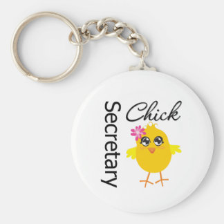 Secretaria Chick Llavero Redondo Tipo Chapa