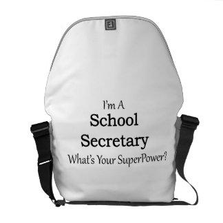 Secretaria de la escuela bolsa de mensajeria