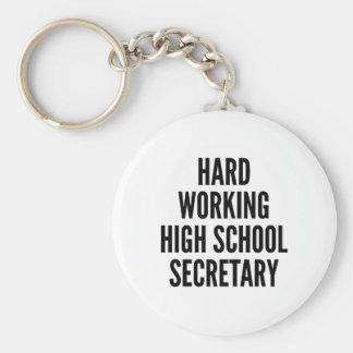 Secretaria de trabajo dura de la High School Llavero